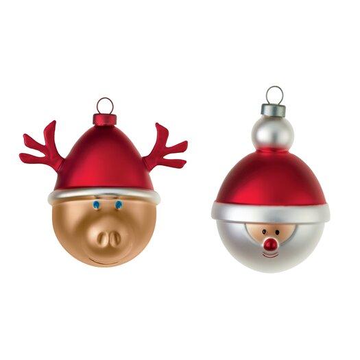 2 Piece Babbarenna E Babbonatale Christmas Ornament