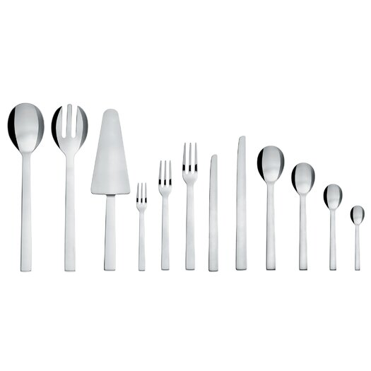 Alessi-Santiago Dessert Fork in Mirror Polished by David Chipperfield