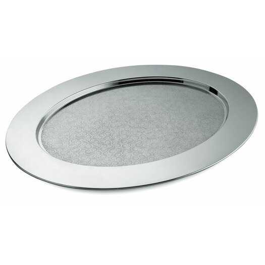 Alessi Cesellato Decorated Oval Serving Tray