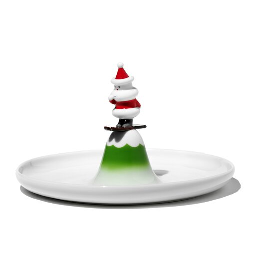 Alessi Holiday Figurines Scia Natalino! Pastry Platter
