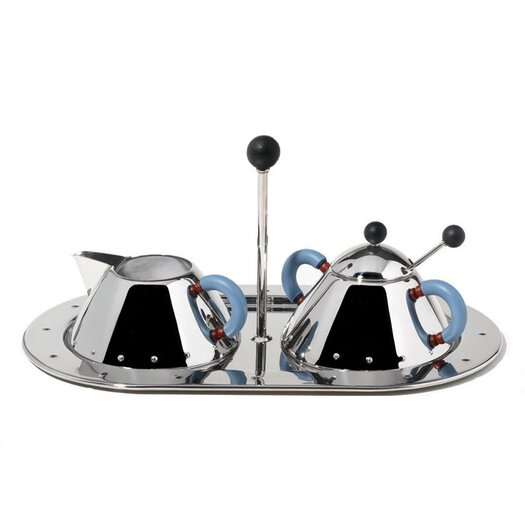 Alessi 9096/97 Cream and Sugar Set by Michael Graves, 1988