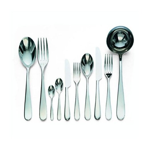 Alessi-Nuovo Milano 5 Piece Place Setting in Mirror Polished by Ettore Sottsass