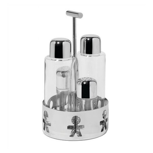Alessi Girotondo by King Kong 4 Piece Condiment Set