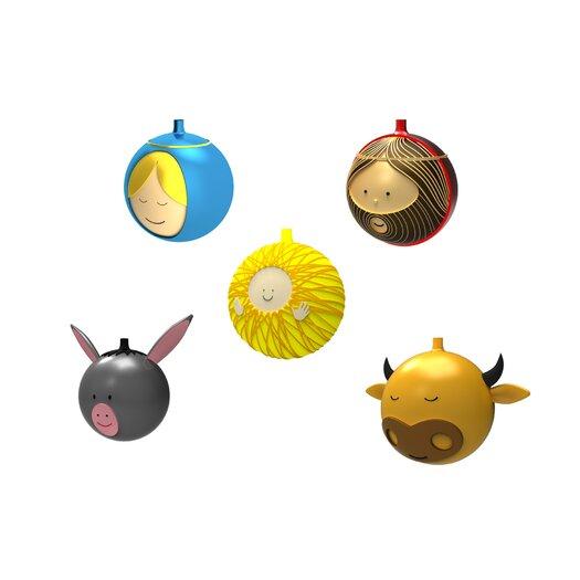 Alessi 5 Piece Christmas Ornament Set