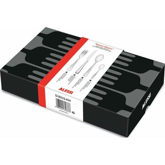 Alessi Nuovo Milano 4 Piece Flatware Set
