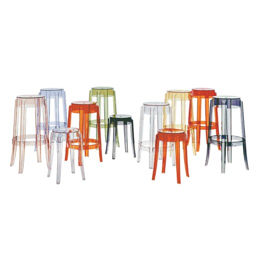 "Kartell Ghost 18"" Bar Stool"