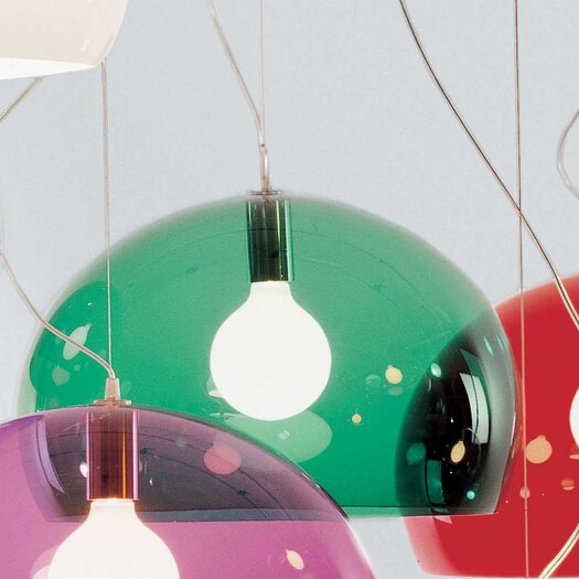 Kartell FL/Y 1 Light Suspension Bowl Pendant