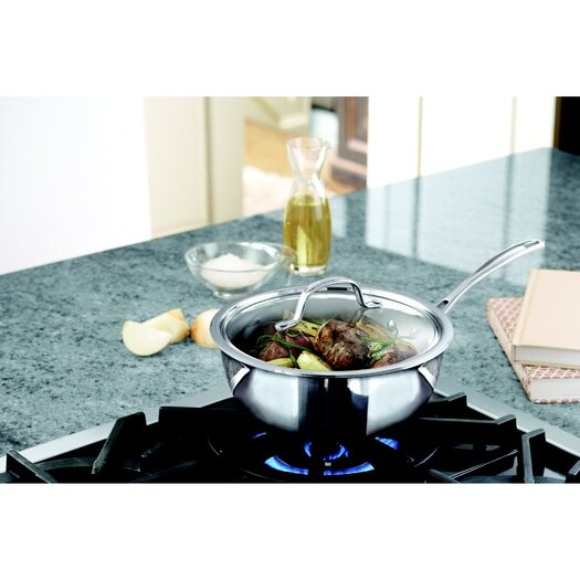 Calphalon Tri-Ply Stainless Steel 3-qt. Chef's Saute Pan with Lid