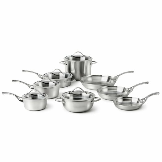 Calphalon Contemporary 13 Piece Stainless Steel Cookware Set