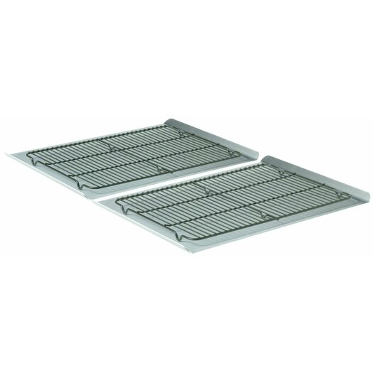 "Calphalon 4 Piece 19"" Nonstick Cookie Sheet and Cooling Rack Set"