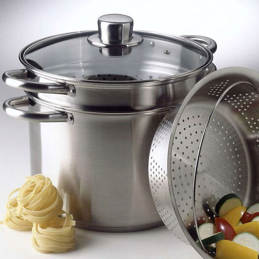 Calphalon Simply Stainless Steel 8 Qt. Multi-Pot with Steamer & Pasta Insert