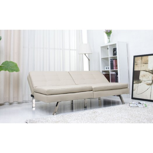 Gold Sparrow Memphis Convertible Sofa in Beige