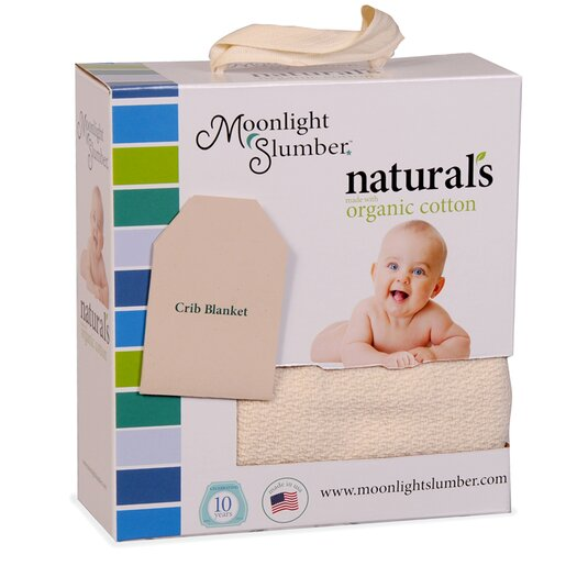 Moonlight Slumber 100% Organic Cotton Crib Blanket