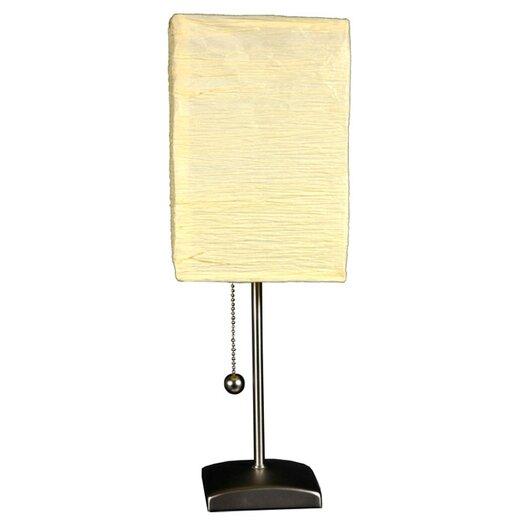 "Oriental Furniture Yoko 17"" H Table Lamp with Rectangular Shade"
