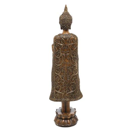 Oriental Furniture Standing Thai Buddha Figurine