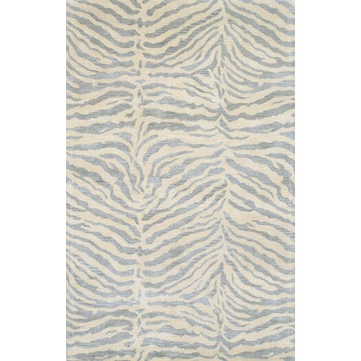 Bashian Rugs Norwalk Light Blue & Ivory Animal Print Area