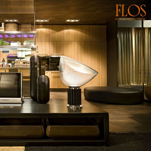 """FLOS Taccia 21.26"""" H Table Lamp with Bowl Shade"""