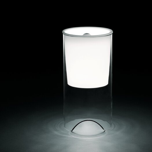 """FLOS Aoy 23.6"""" H Table Lamp with Drum Shade"""
