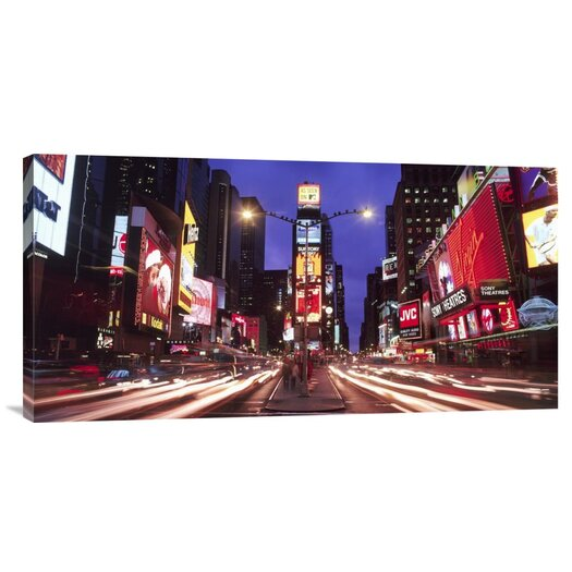 Global Gallery 'Times Square at Night' by Paul Hardy Photographic Print on Wrapped Canvas