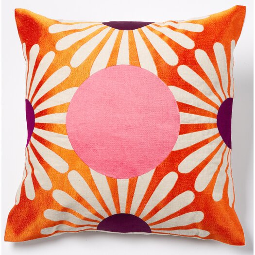 emma at home by Emma Gardner Dot Linen Throw Pillow