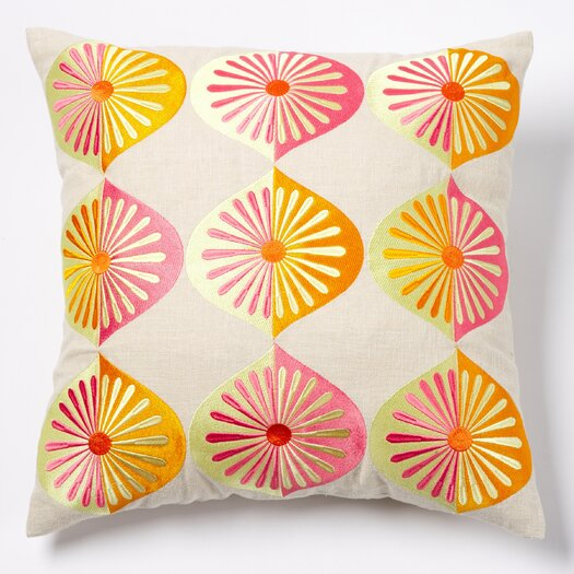 emma at home by Emma Gardner Many Fans Linen Throw Pillow
