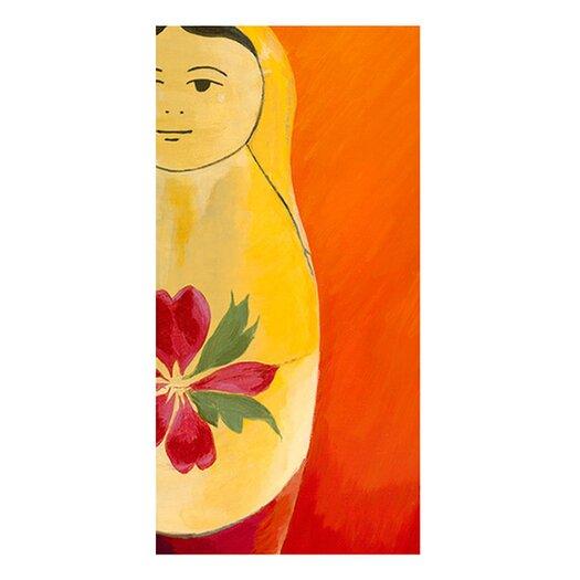 emma at home by Emma Gardner Matryoshka Half face Giclee Painting Print on Canvas