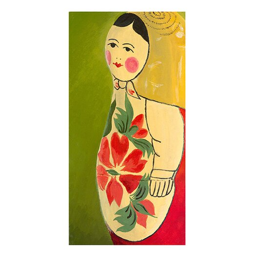 emma at home by Emma Gardner Matryoshka Three-Quarter Face Giclee Painting Print on Wrapped Canvas