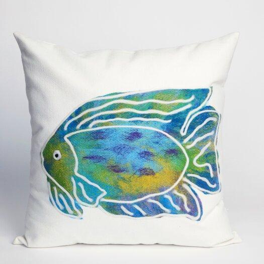 Liora Manne Batik Fish Indoor/Outdoor Throw Pillow