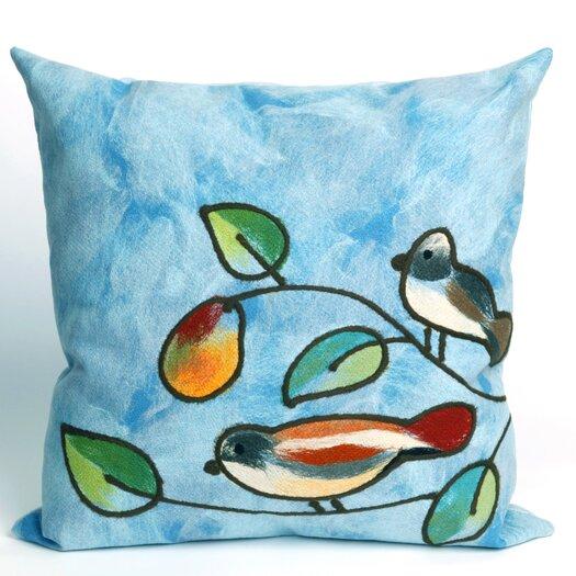 Liora Manne Song Birds Indoor/Outdoor Throw Pillow