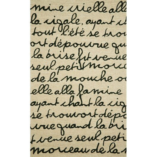 Liora Manne Spello Poem Black/Ivory Outdoor Area Rug