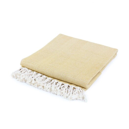 Nine Space Nine Space Herringbone Cotton Throw Blanket
