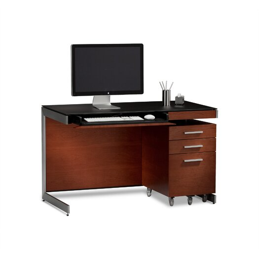 computer desk with file drawer bdi usa sequel compact desk allmodern 13776