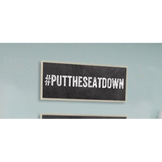 Stupell industries putthe seat down hashtag bathroom wall for Bathroom decor hashtags
