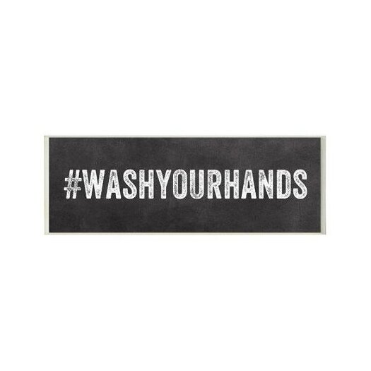 Stupell industries wash your hands hashtag bathroom wall for Bathroom design hashtags