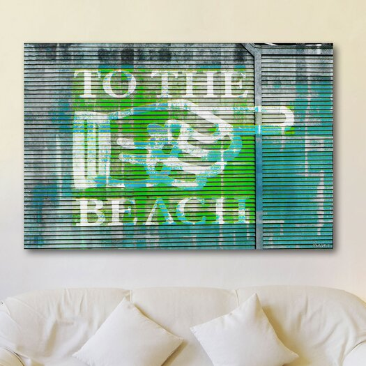 Parvez Taj The Beach - Art Print on Preimium Canvas