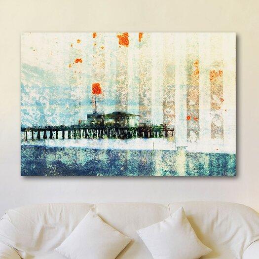 Parvez Taj Santa Monica Pier Graphic Art on Premium Wrapped Canvas