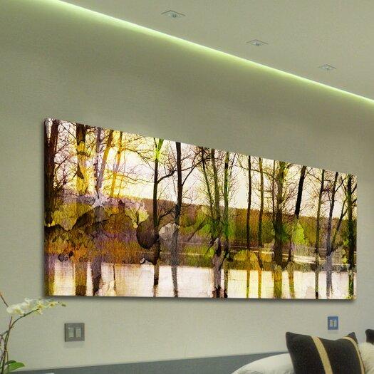 Parvez Taj Lake Trees - Art Print on Premium Wrapped Canvas