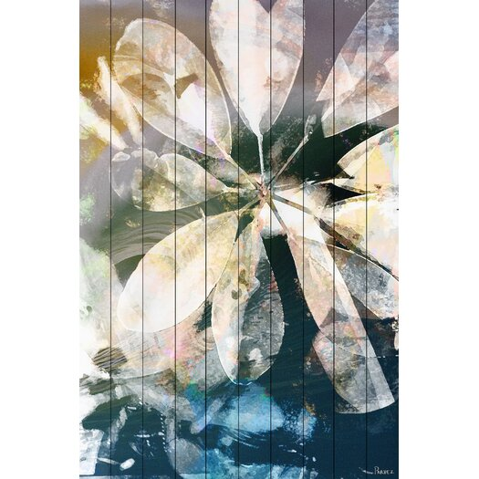 Blue Water - Art Print on White Pine Wood