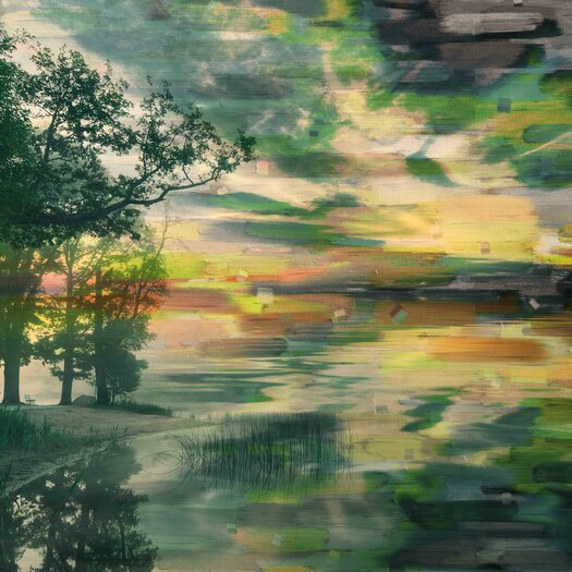 Lakeside Trees Graphic Art on Wrapped Canvas