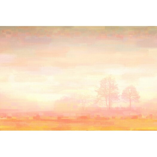 Orange Mist Graphic Art on Wrapped Canvas