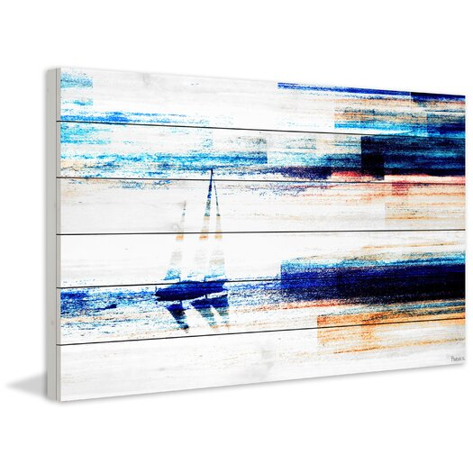 Aegean Sea Painting Print in White