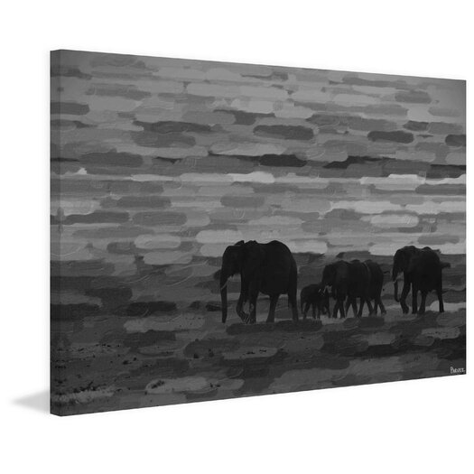 Pachyderm Family Photographic Print on Wrapped Canvas
