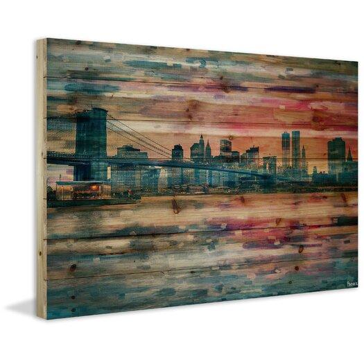 Bridge at Dusk Painting Print