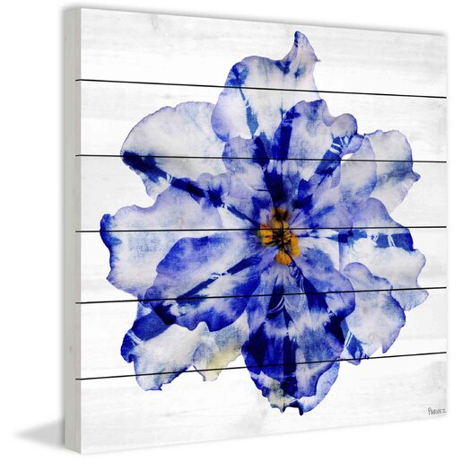 Blue and White Flower Painting Print