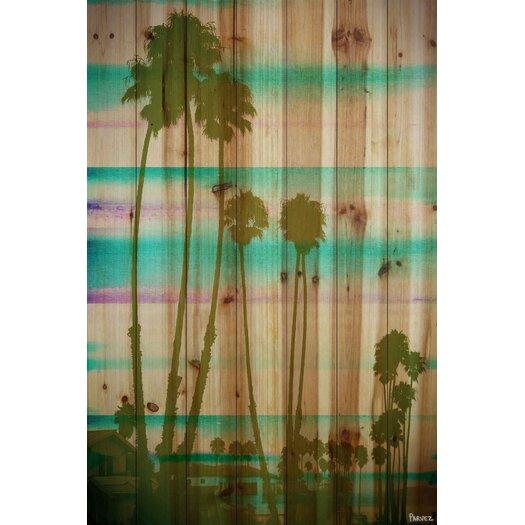 Beach & Nautical Rainbow Through the Palms Painting Print
