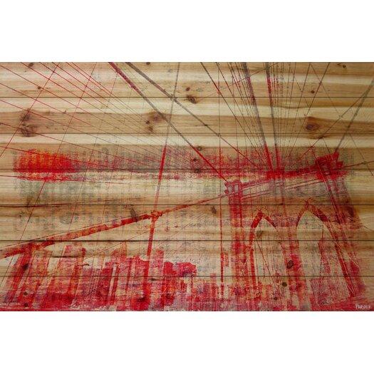 Urban Brooklyn Bridge Painting Print