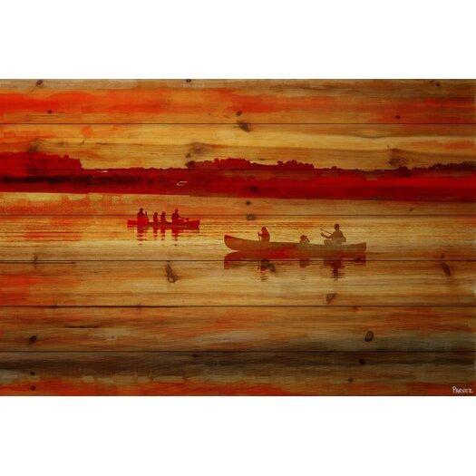 Sunset Paddle Painting Print