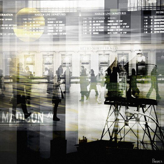 New York Moving Graphic Art on Canvas