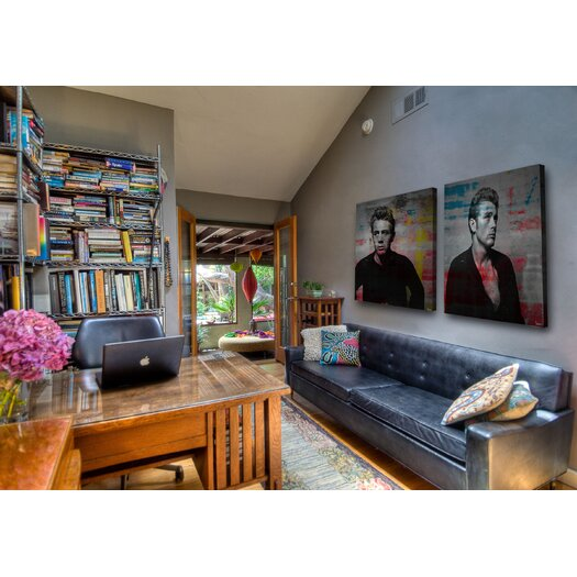 Parvez Taj James Dean - Torn Sweater 1 - Art Print on Premium Wrapped Canvas