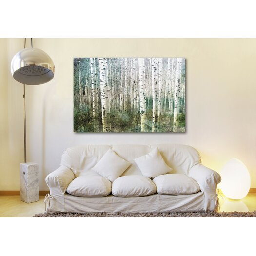 Parvez Taj Aspen Green Graphic Art on Premium Wrapped Canvas